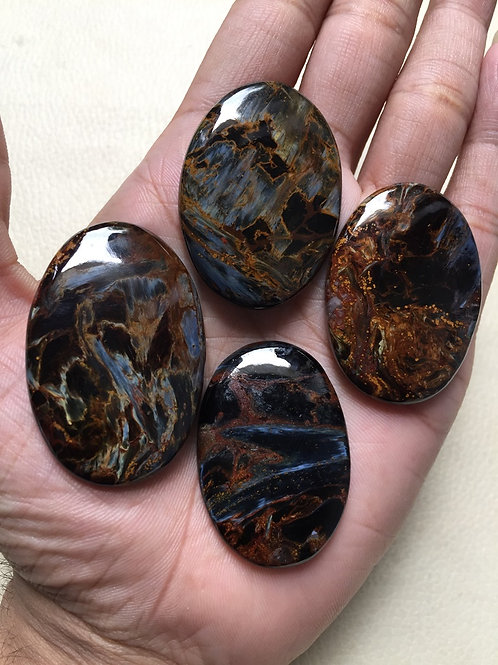 Pietersite Cabochons 4 Pieces Size 48-42 MM Approx