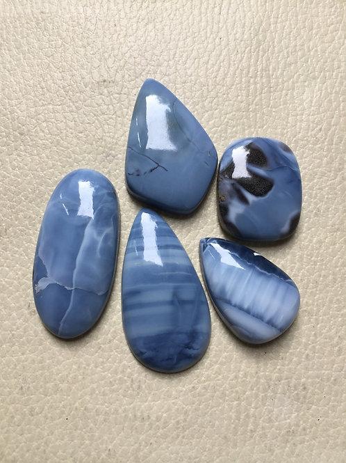 Blue Opal Cabochon 5 Piece Size: 43-28 MM Approx