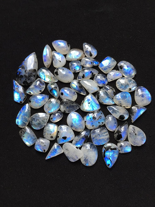 Rainbow Moonstone Cabochon 44 Piece Size 23-12 MM Approx