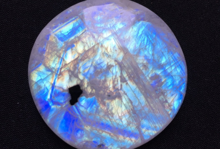 Rainbow Moonstone Cabochon 1 Piece Size: 41 MM Approx