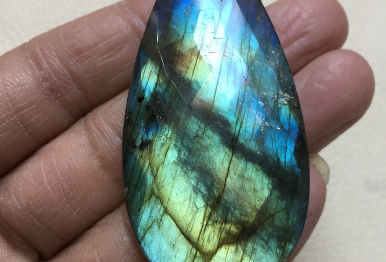 Labradorite Rose Cut Cabochon 1 Piece Size: 62 MM Approx