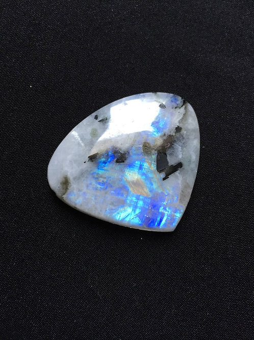 Rainbow Moonstone Cabochon 1 Piece Size 41 MM Approx