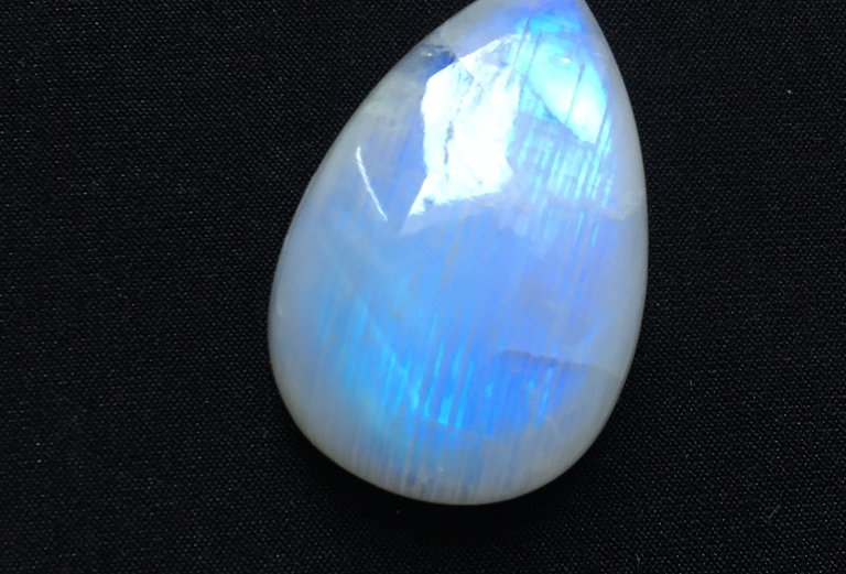 Rainbow Moonstone Cabochon 1 Piece Size: 37 MM Approx