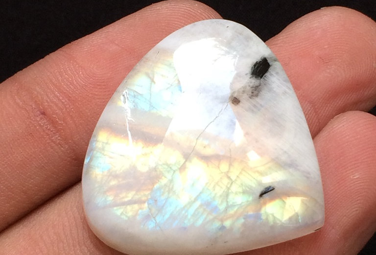 Rainbow Moonstone Cabochon 1 Piece Size: 30 MM Approx
