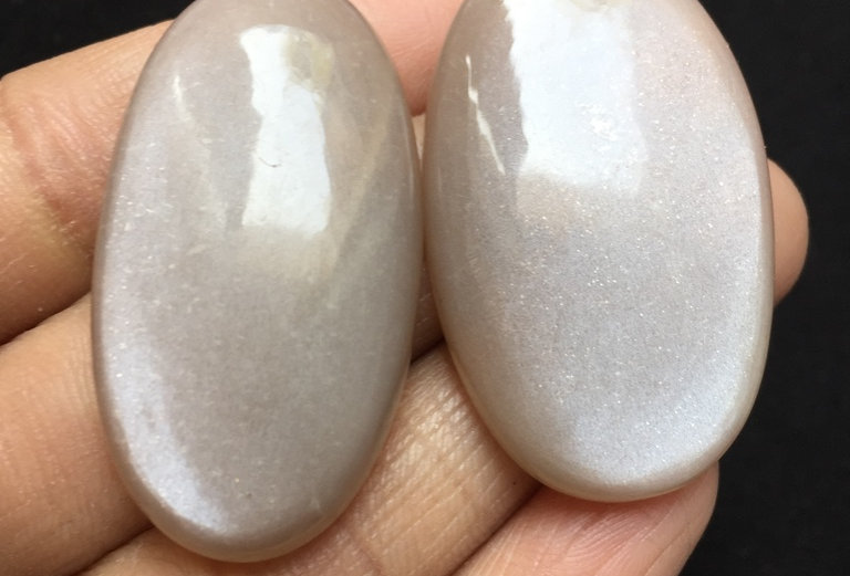 Moonstone Cabochon 2 Pieces Size: 42 MM Approx