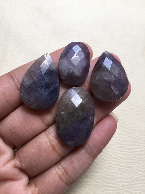 Ross Cut Tourmaline Cabochon 4 Piece Size 29-22 MM Approx