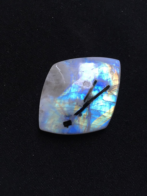 Rainbow Moonstone Cabochon 1 Piece Size 43 MM Approx