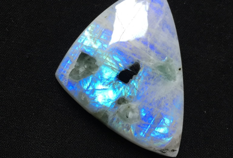 Rainbow Moonstone Cabochon 1 Piece Size: 47 MM Approx