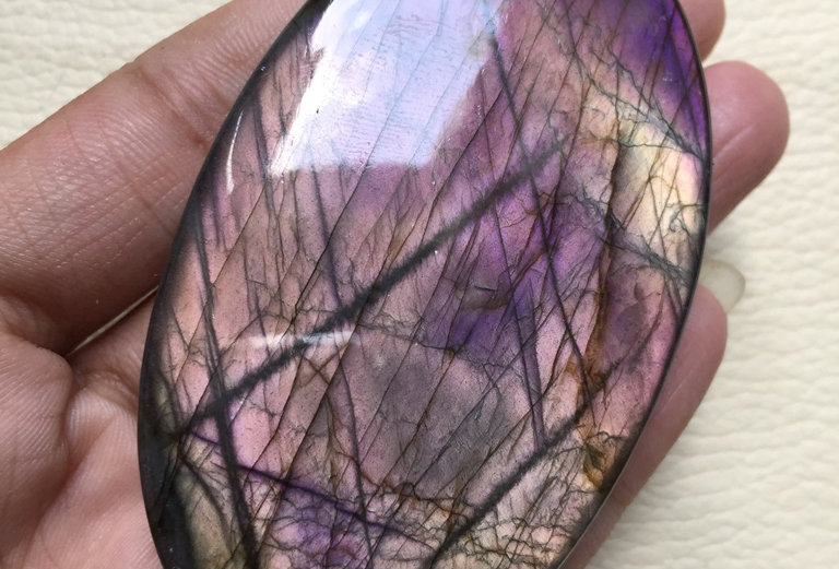 Labradorite Cabochon  1 Piece Size 76 MM Approx