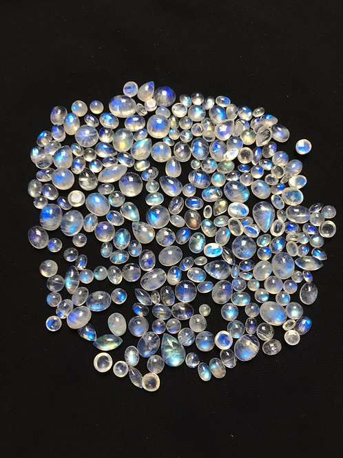 Rainbow Moonstone Cabochon 251 Piece Size: 11-5 MM Approx