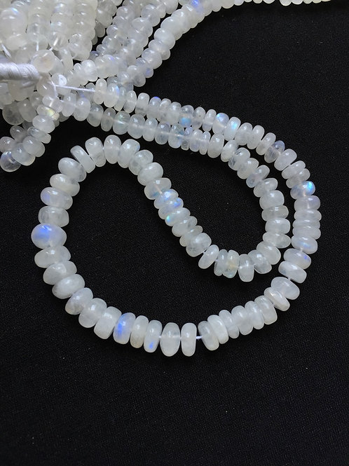 "Rainbow Moonstone 12""  1 Strand Beads  Size 10-5 MM Approx"
