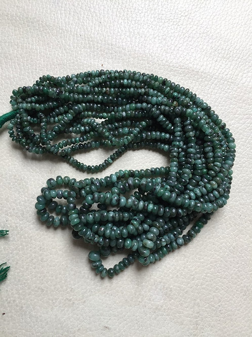 """Emerald 16""""  1 Strand  Beads  Size 8-3 MM Approx"""