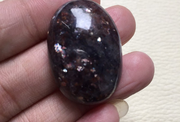 Iolite Sunstone Cabochon 1 Piece Size: 32 MM Approx