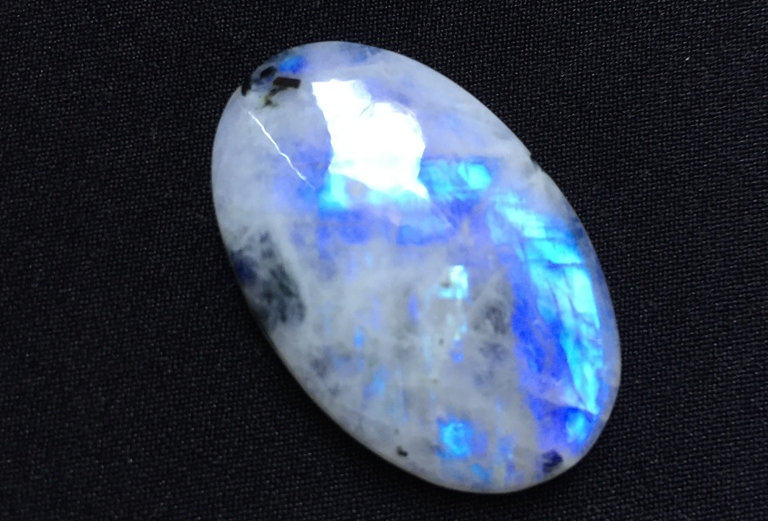 Rainbow Moonstone Cabochon 1 Piece Size: 35 MM Approx