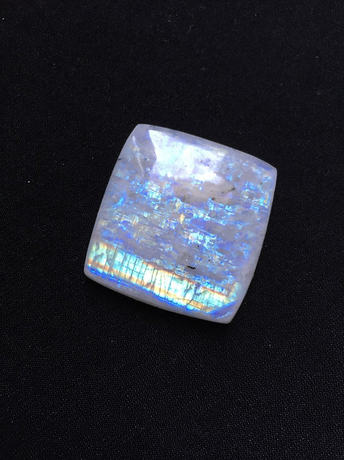 Rainbow Moonstone Cabochon 1 Piece Size 33 MM Approx
