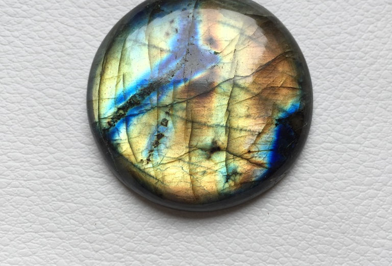 Labradorite Cabochon 1 Piece Size: 39 MM Approx
