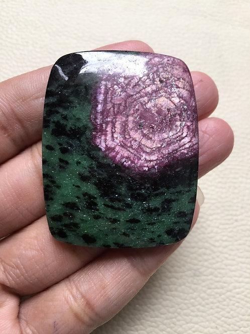 Ruby Zosite Gemstone Cabochon 1 Piece Size 48 MM Approx