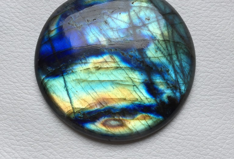 Labradorite Cabochon 1 Piece Size: 51 MM Approx
