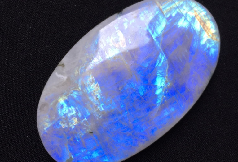 Rainbow Moonstone Cabochon 1 Piece Size: 60 MM Approx