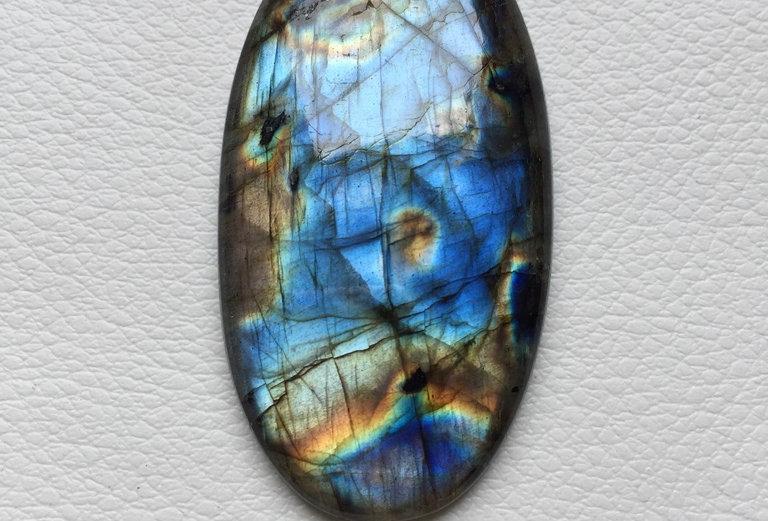 Labradorite Cabochon 1 Piece Size: 53 MM Approx