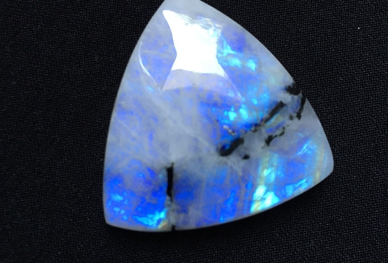 Rainbow Moonstone Cabochon 1 Piece Size: 33 MM Approx