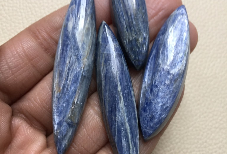 Kynite Cabochon 4 Piece Size: 67-48 MM Approx