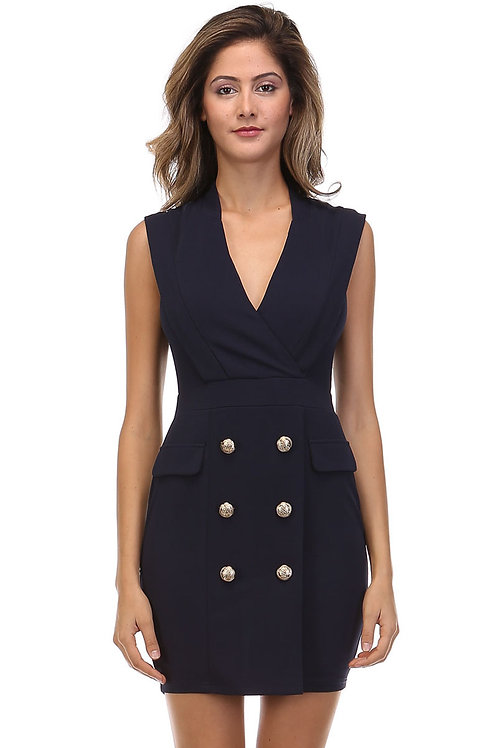 Navy double breasted Dress