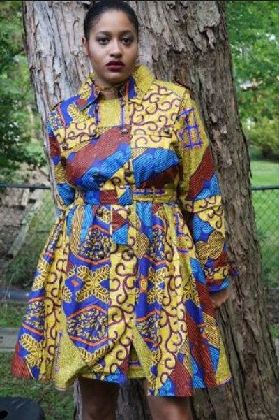 LynTalia Trench Dress Coat