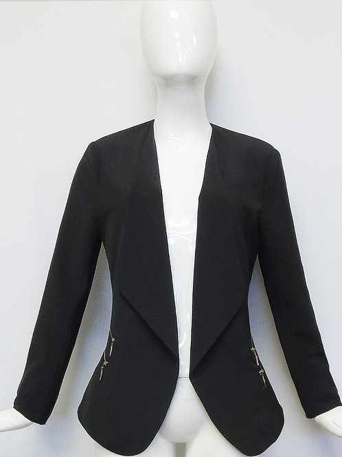 Black Blazer with zipper pockets