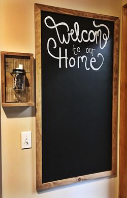 DIY Blackboard and Chalk Holder