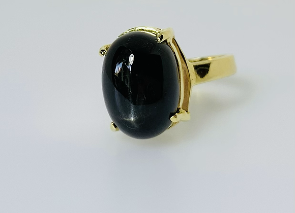 Anel obsidiana negra
