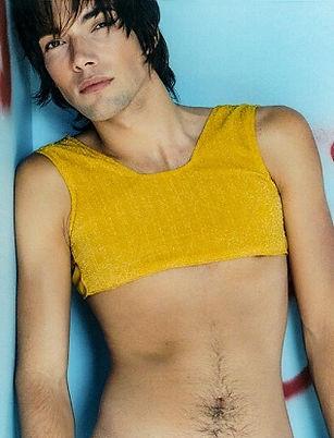 Photograph of Michael ina short, gold top, taken by Diana Tegenkamp