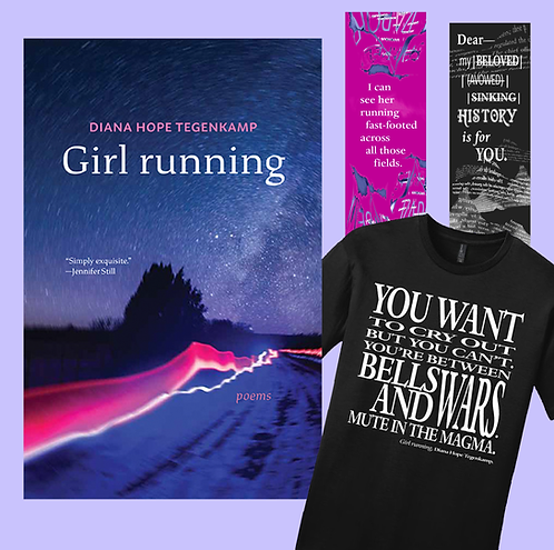 Girl running bundle (book, t-shirt and 2 bookmarks)