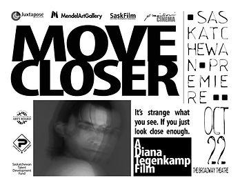 Invitation to premiere of Move Closer a film by Diana Hope Tegenkamp