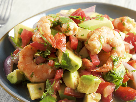 Shrimp, Avocado, & Tomato Salad