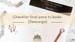 Checklist final para tu boda (Descarga)