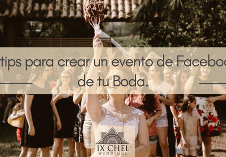 5 tips para crear un evento en Facebook de tu Boda.