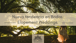 Nueva tendencia en Bodas: Elopement Weddings.