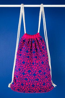 plecak różowy w niebieski układ