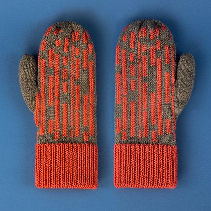 rękawiczki w różowe proste linie