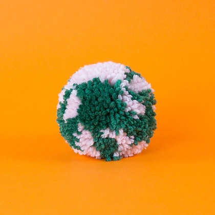 pompon jasnoróżowy z zielenią