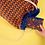 Thumbnail: plecak niebieski w pomarańczowe fale
