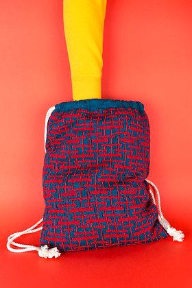 plecak morski w czerwone linie