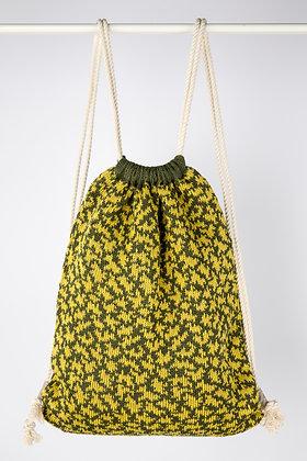 plecak khaki z żółte chmury