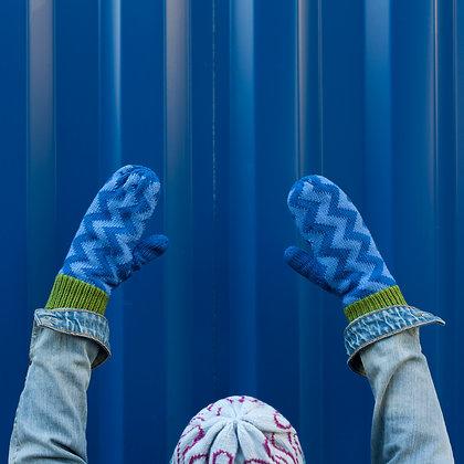 rękawiczki w niebieskie kąty