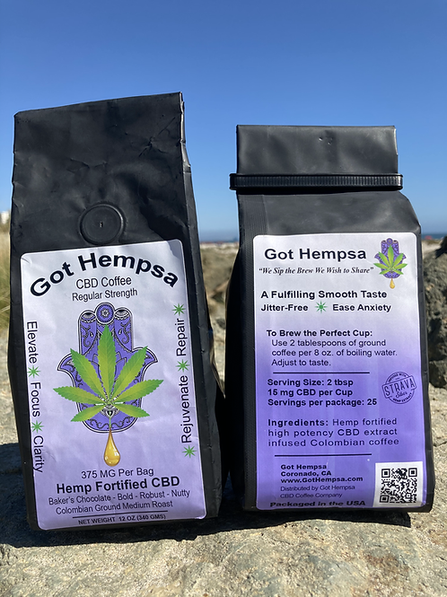 Got Hempsa Coffee 375 MG CBD
