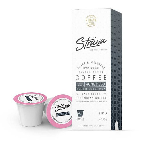 STRAVA CBD COFFEE (K-CUPS) - 10MG CBD/SERVING - DARK ROAST