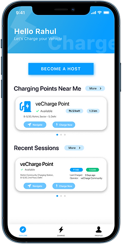 veCharge App Home