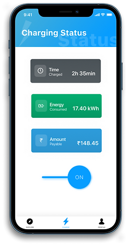 Monitor Charging status and earnings through veCharge App