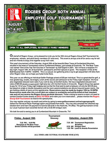 Golf Tournament Email Brochure